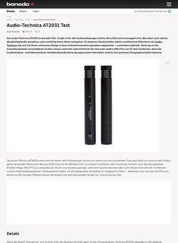 Bonedo.de Audio-Technica AT2031 Test