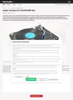 Bonedo.de Audio Technica AT-LP1240USB