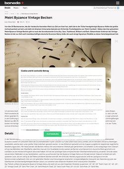 Bonedo.de Meinl Byzance Vintage Cymbals