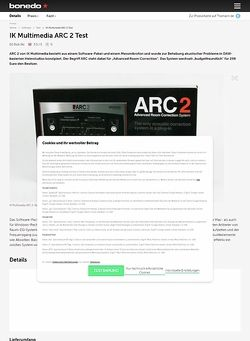 Bonedo.de IK Multimedia ARC 2 Test