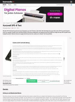 Bonedo.de Kurzweil SP5-8 Test