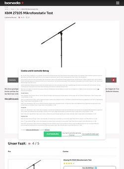 Bonedo.de K&M 27105 Thomann Typ 1 Mikrofonstativ Test