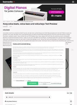 Bonedo.de Korg Volca Beats, Volca Bass und Volca Keys
