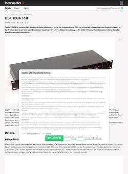 Bonedo.de DBX 160A Test