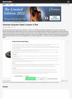 Bonedo.de Schecter Synyster Gates Custom-S