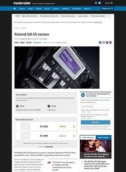 MusicRadar.com Roland GR-55