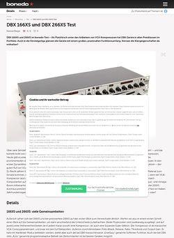 Bonedo.de DBX 166XS und DBX 266XS Test
