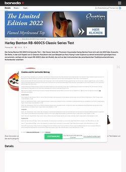 Bonedo.de Harley Benton RB-600CS Classic Series Test