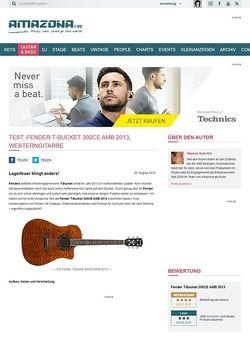 Amazona.de Test: Fender T-Bucket 300CE AMB 2013, Westerngitarre