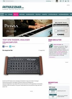 Amazona.de Test: MFB Tanzbär, analoger Drumcomputer