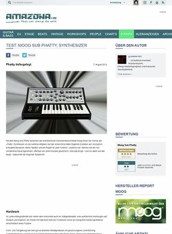 Amazona.de Test: Moog Sub Phatty, Synthesizer