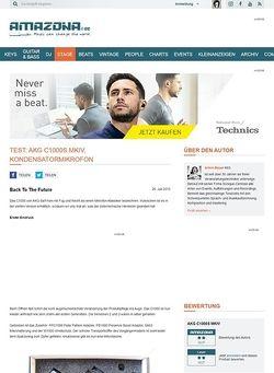 Amazona.de Test: AKG C1000S MKIV, Kondensatormikrofon