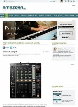 Amazona.de Test: Pioneer DJM-750, DJ-Club-Mixer