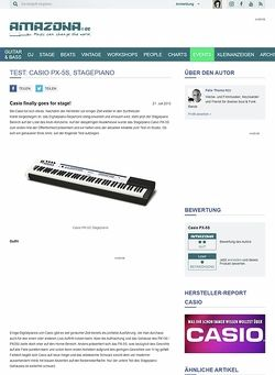 Amazona.de Test: Casio PX-5S, Stagepiano