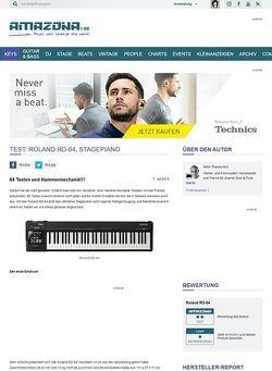 Amazona.de Test: Roland RD-64, Stagepiano