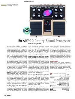 Guitar Test: Boss RT-20 Rotary Sound Processor