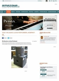 Amazona.de Test: HK-Audio Lucas Performer, Kompakt-PA