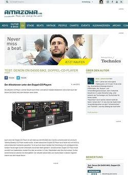 Amazona.de Test: Denon DN D4500 MK2, Doppel-CD-Player