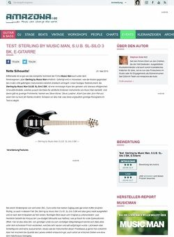 Amazona.de Test: Sterling by Music Man, S.U.B. SL-Silo 3 BK, E-Gitarre