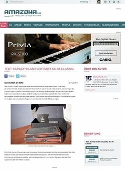 Amazona.de Test: Dunlop Slash Cry Baby SC-95 Classic