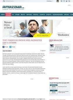 Amazona.de Test: Fender SQ Vintage Mod Jazzmaster OWT, E-Gitarre