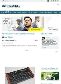 Amazona.de Top News: MFB Tanzbär, Drumcomputer