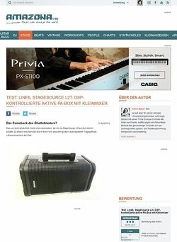 Amazona.de Test: Line6, StageSource L2t, DSP-kontrollierte aktive PA-Box mit Kleinmixer
