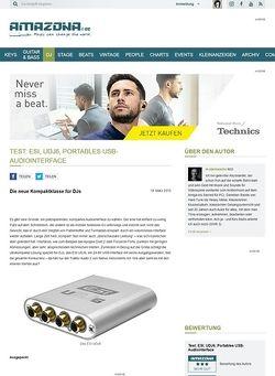 Amazona.de Test: ESI, UDJ6, Portables USB-Audiointerface
