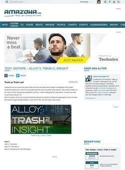 Amazona.de Test: Izotope - Alloy 2, Trash 2, Insight