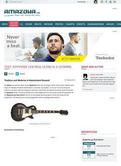 Amazona.de Test: Epiphone Les Paul Ultra-III, E-Gitarre