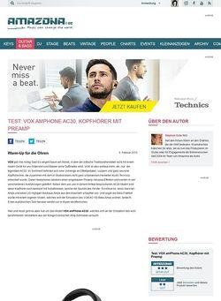 Amazona.de Test: VOX amPhone AC30, Kopfhörer mit Preamp