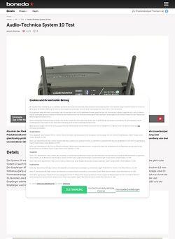 Bonedo.de Audio-Technica System 10 Test