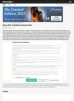 Bonedo.de Boss MO-2 Multi Overtone Test