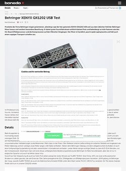 Bonedo.de Behringer XENYX QX1202 USB Test