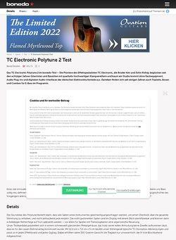Bonedo.de TC Electronic Polytune 2 Test