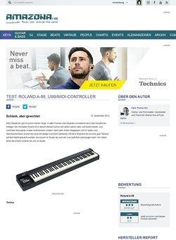 Amazona.de Test: Roland A-88, USB/MIDI-Controller
