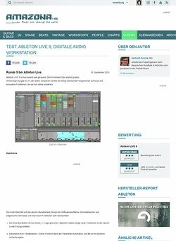 Amazona.de Test: Ableton LIVE 9, Digitale Audio Workstation