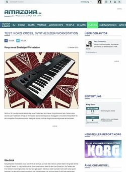 Amazona.de Test: Korg Kross, Workstation