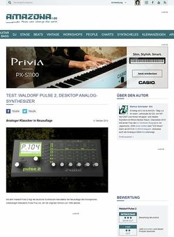 Amazona.de Test: Waldorf Pulse 2, Desktop Analog-Synthesizer
