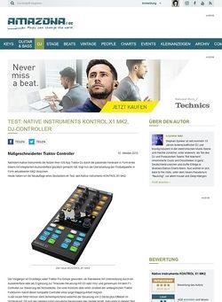 Amazona.de Test: Native Instruments KONTROL X1 MK2, DJ-Controller