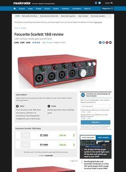MusicRadar.com Focusrite Scarlett 18i8