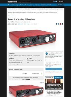MusicRadar.com Focusrite Scarlett 6i6