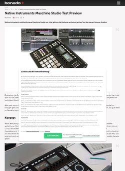 Bonedo.de Vorschau: Native Instruments Maschine Studio