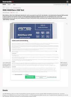Bonedo.de RME MADIface USB Test