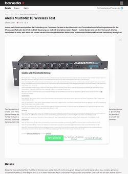 Bonedo.de Alesis MultiMix 10 Wireless Test