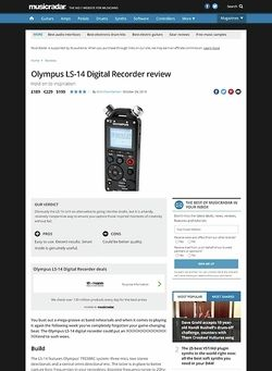 MusicRadar.com Olympus LS-14 Digital Recorder