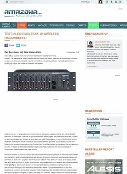 Amazona.de Test: Alesis MultiMix 10 Wireless, Rackmischer