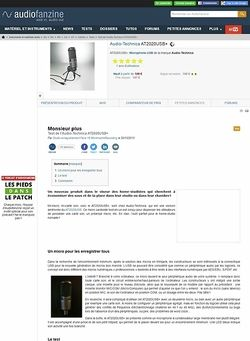 Audiofanzine.com Audio-Technica AT2020USB+