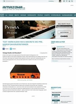 Amazona.de Test: Warm Audio WA12 Discrete Mic Pre, Mikrofonvorverstärker