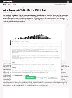 Bonedo.de Native Instruments Traktor Kontrol S2 MK2 Test